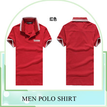 Customize 100% cotton casual sport Polo T shirts ,short sleeves Polo T shirt for Men, red color turn down collar Polo Shirt made