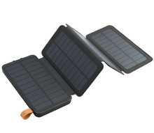 Multi-function safety solar panel battery charger with LED light
