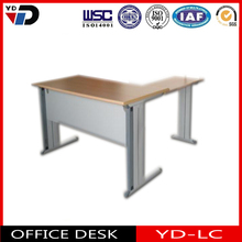 L shaped office desk with hanging drawer cabinet lockable