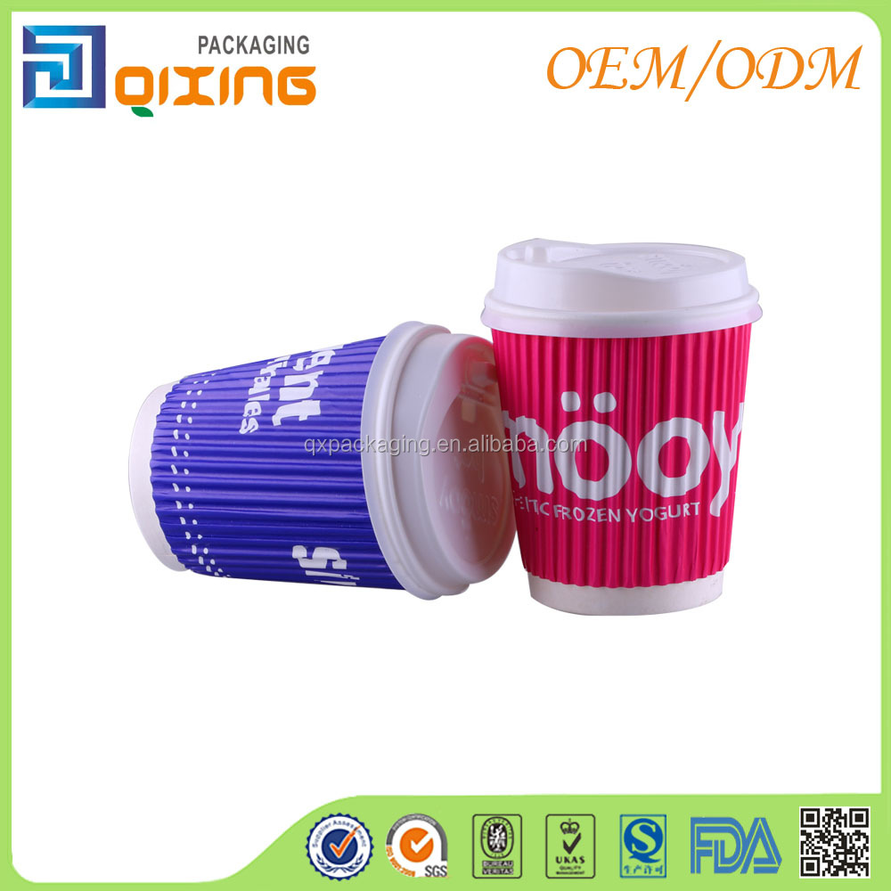 220ml coffee paper cup with PS lid export to Europe