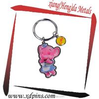 wholesale printing pink elepant key chain game