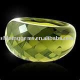 faceted charm light green round cut hot sale fashion cz ring