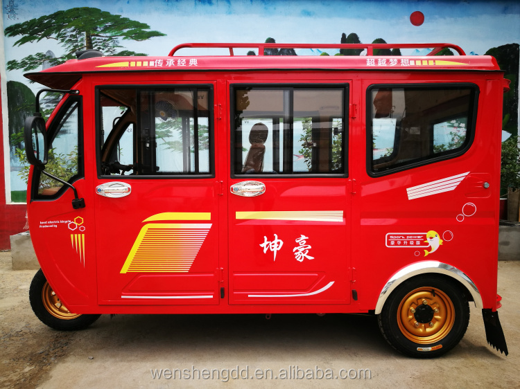 Wholesale 1200w enclosed electric passenger tricycle 3 wheel car made in China/Factory direct sales