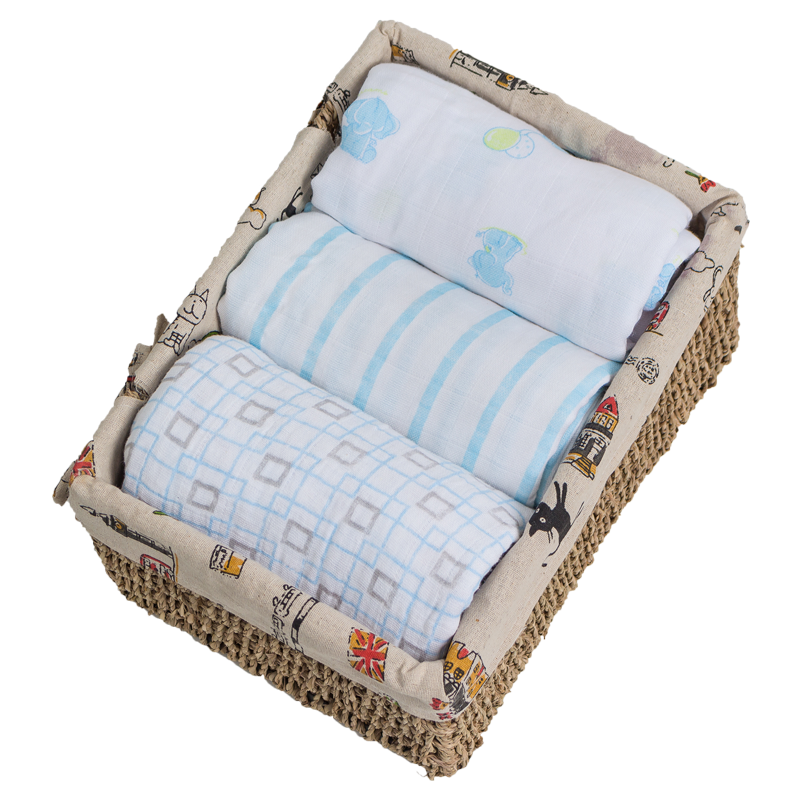Top quality simple printed soft cotton wholesale muslin swaddle blankets for <strong>baby</strong>