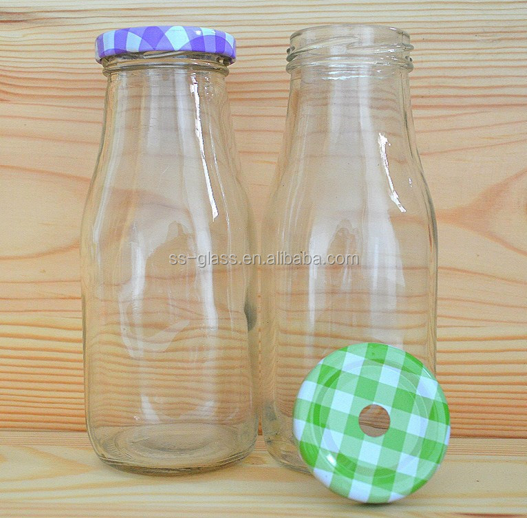 wholesale glass soda bottle with tin lid