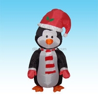 Christmas Inflatable Penguin Yard Outdoor Garden Decoration Balloon Stage Prop