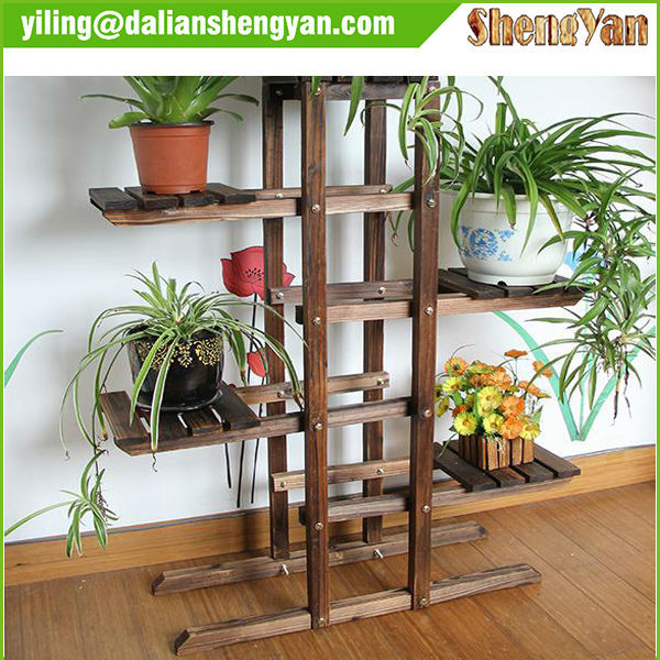 3 Tiers Wooden Flower Stand/Flower Pot Stand
