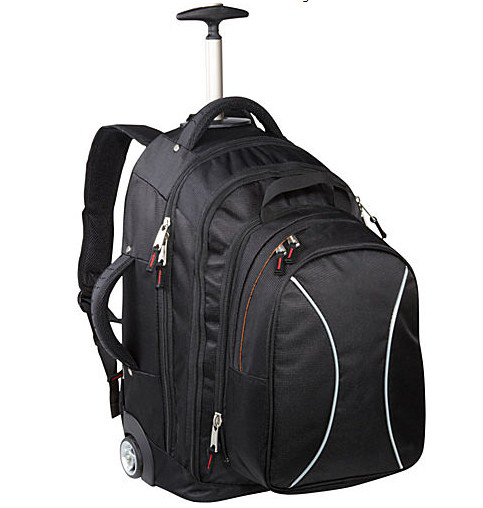 Fashion Style 600D Unisex Men and Women trolley backpack bag