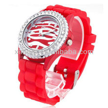 2013 fashion silicone jelly watch