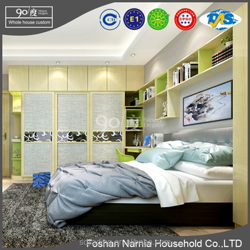 3 Door Royal Bedroom Sets Furniture Sliding Door Wardrobe for Sale