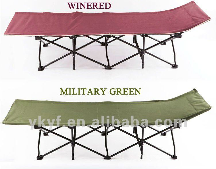 Wholesales Comfortable portable Metal Camping cot Folding bed