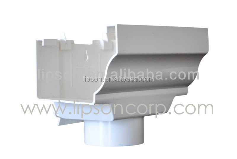 PVC Fitting Rain Gutters / Roof Gutter