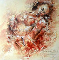 Hot Sale Sexy Nude Bikini Woman Oil Painting On Canvas