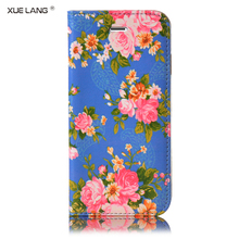 Mobile phones cover for girls For xiaomi mi note 2 PU Leather Mobile Phone Case With flower Pattern