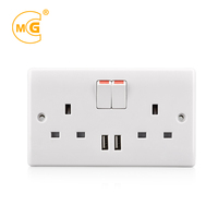 uk electrical socket usb 220v,usb wall plug socket charger british,wall usb socket