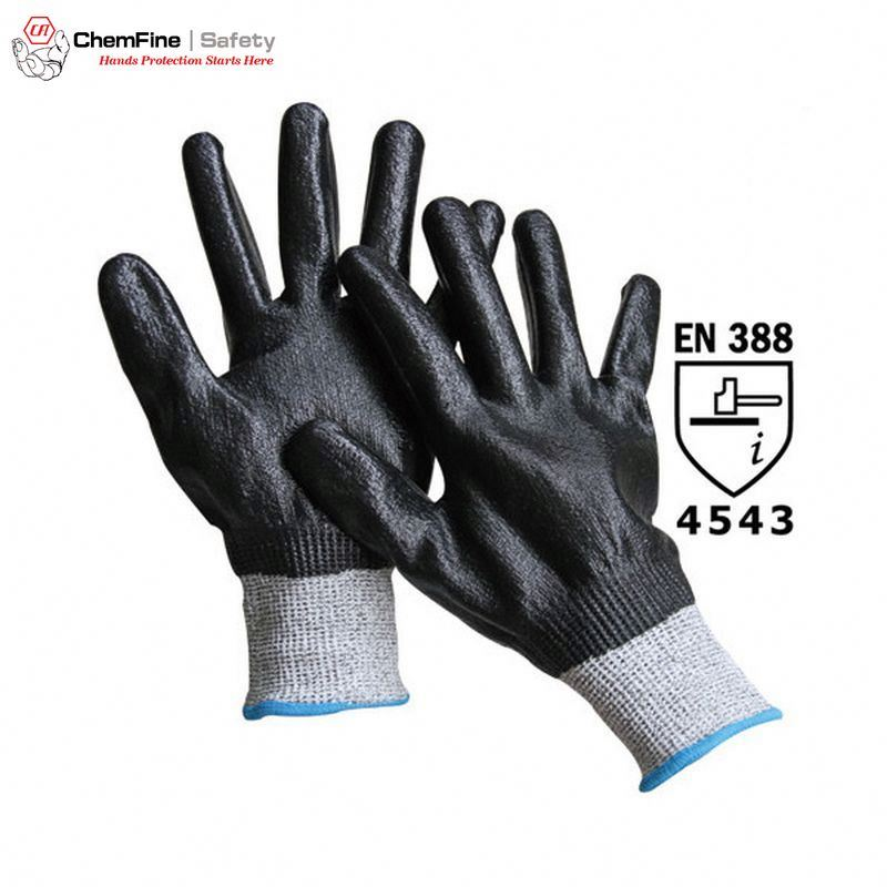 Construction safety working Gloves for Cut Level 3