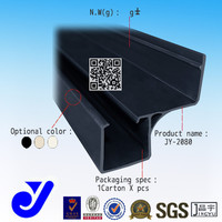 JY-2080|conveyor side guide rail| Roller track guide|Plastic strip