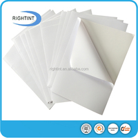 glossy white pvc self adhesive backed rubber sheet