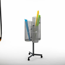Mode hoed stand pen metalen hoed display stand, metalen roterende spinner display stand
