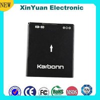 supply 1450mAh 3.7V Lithium battery cell phone lithium battery for Karbonn