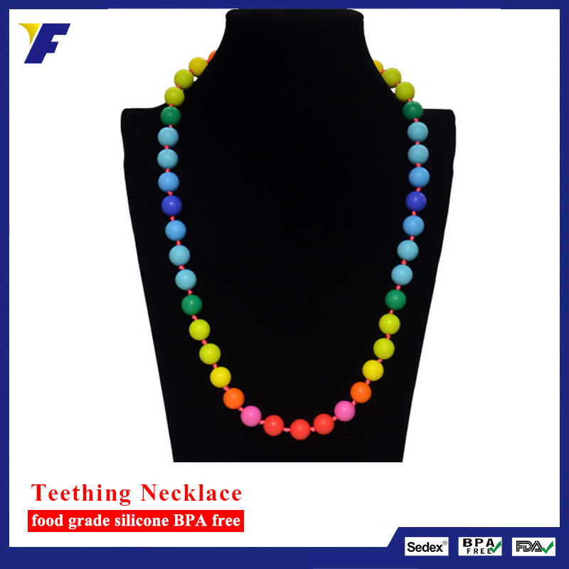Wholesale Popular Round food grade silicone beads in necklaces