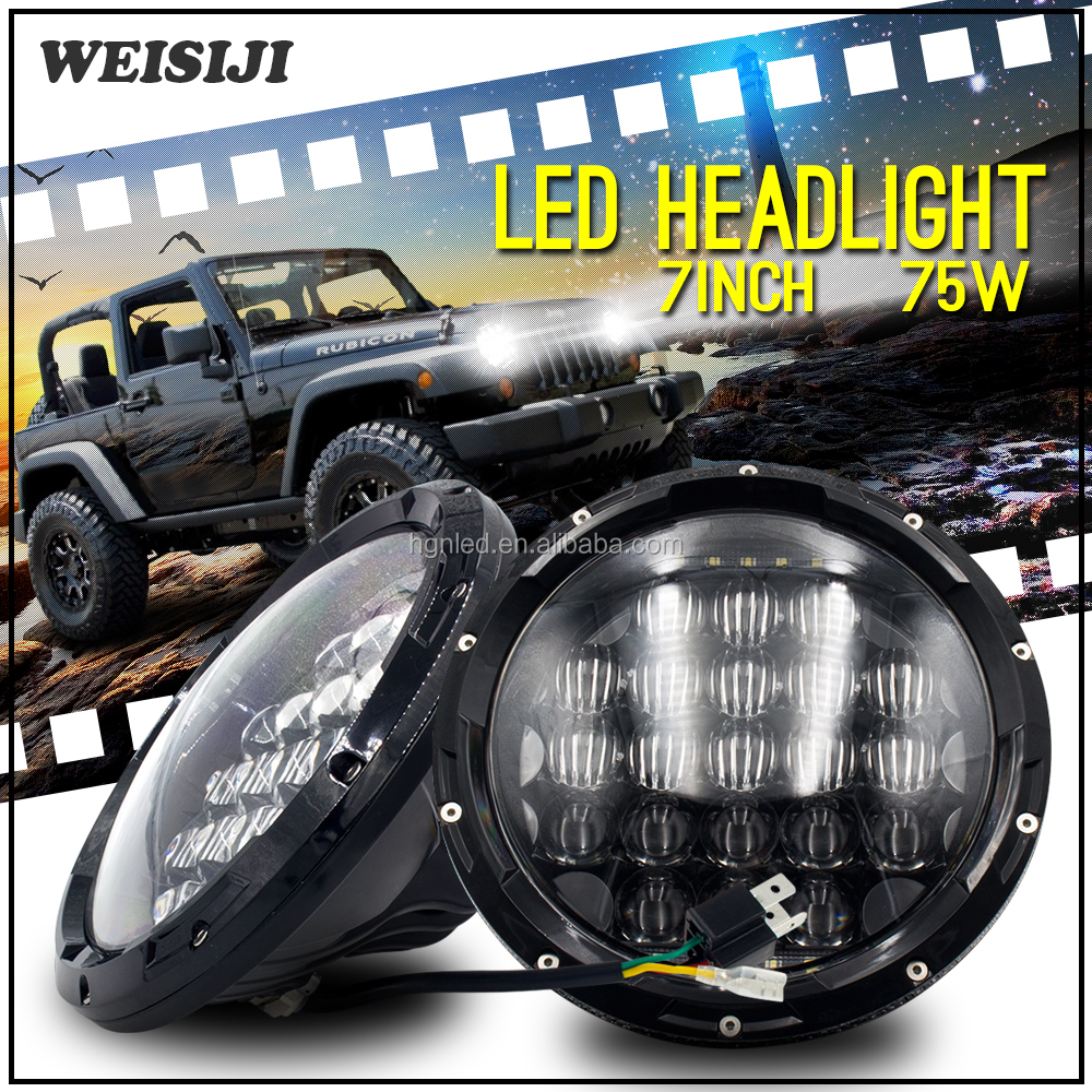 High bright angle eye 4WD AUTO Jeep truck 7 inch Low Beam High Beam led Headlight