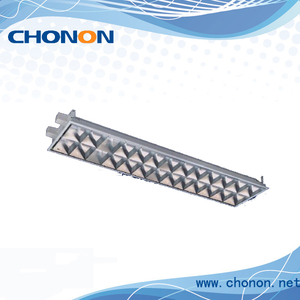 Economic products T8 grille lighting with 7pcs louver reflector