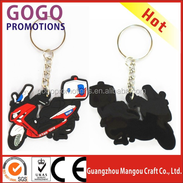 Beautiful Products Soft PVC Customised Key chains, Top selling best quality PVC key chain with metal ring for souvenir gift