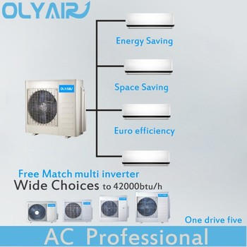 Free match one drive four DC inveter multi split air conditioner