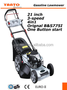 "21"" 4IN1 electric start Self propelled alloy deck Gasoline Lawn mower"