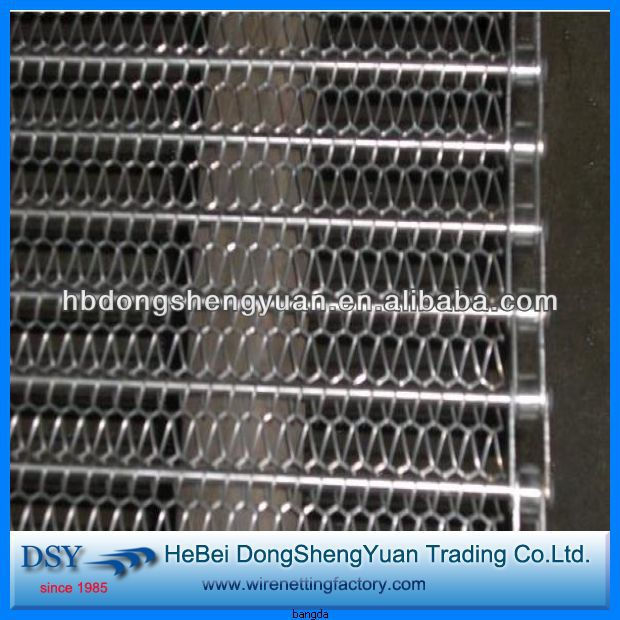 2016 high quantity chain link stainless steel conveyor