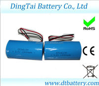 Primary Li-SOCL2 ER34615M 3.6v 13000MAH battery with PHR2 connector