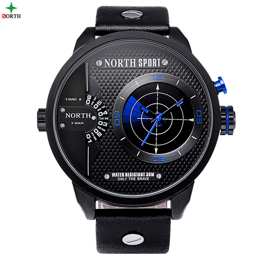 Radar Scaning Two Time Zone Top Quality Men Army Watches for Men on Sale