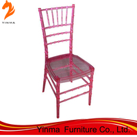 2016 hot sale monoblock resin chiavari chair