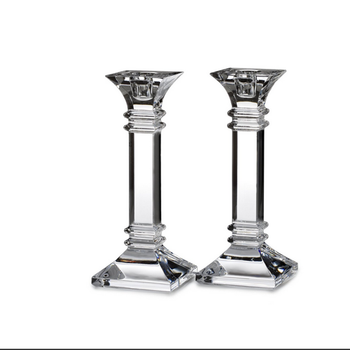 crystal clear unique new design tall glass candle holder