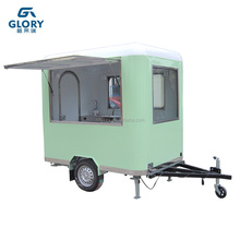 CE Approved Square Shape Street Food Selling Snack Machine Bakery Mobile Hot Dog Food Cart