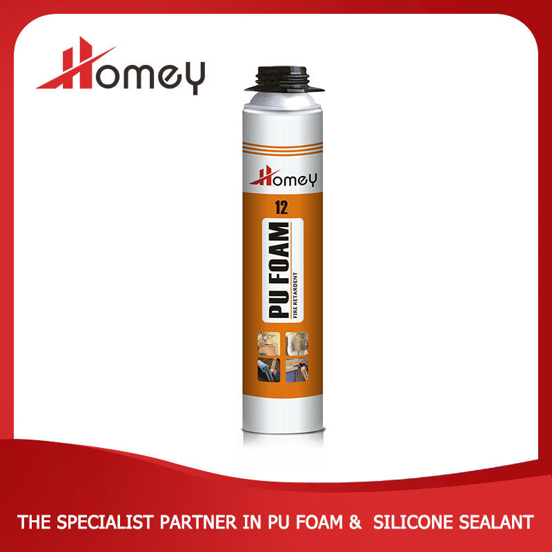 Homey 12 polyurethane fire retardant spray foam for plastic