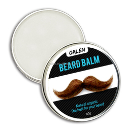 60g Organic Argan Oil Beard Cream Beard Growth Balm Leave in Conditioner Wax for Men