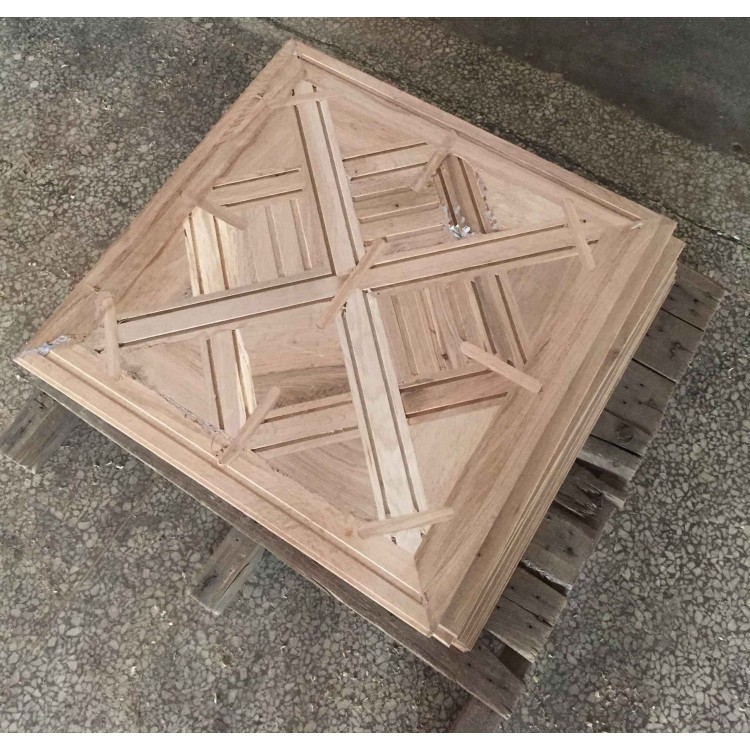Customized 1000*1000 mm Solid Oak Germany Parquet Flooring