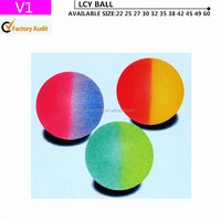 Mixed-color solid bouncing ball