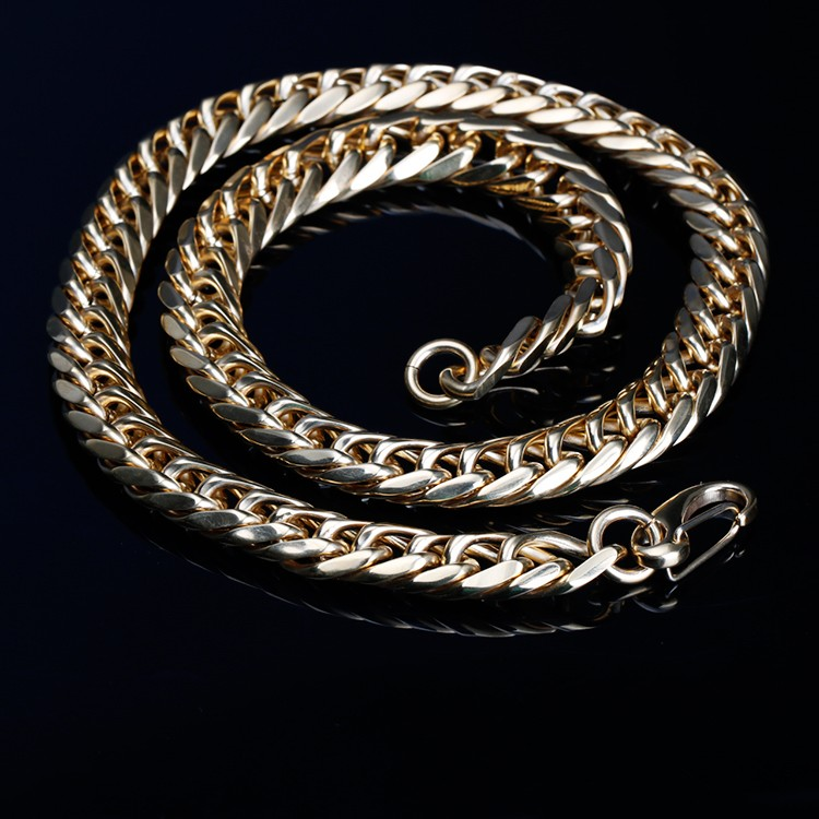 NO.20012 Lead and nickel free Yiwu chain supplier amazon hot selling punk style stainless steel gold filled men chain