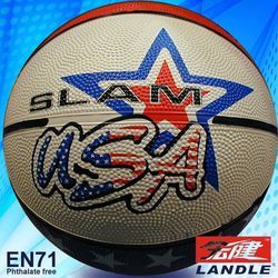 rubber leather mini or standard size basketball material