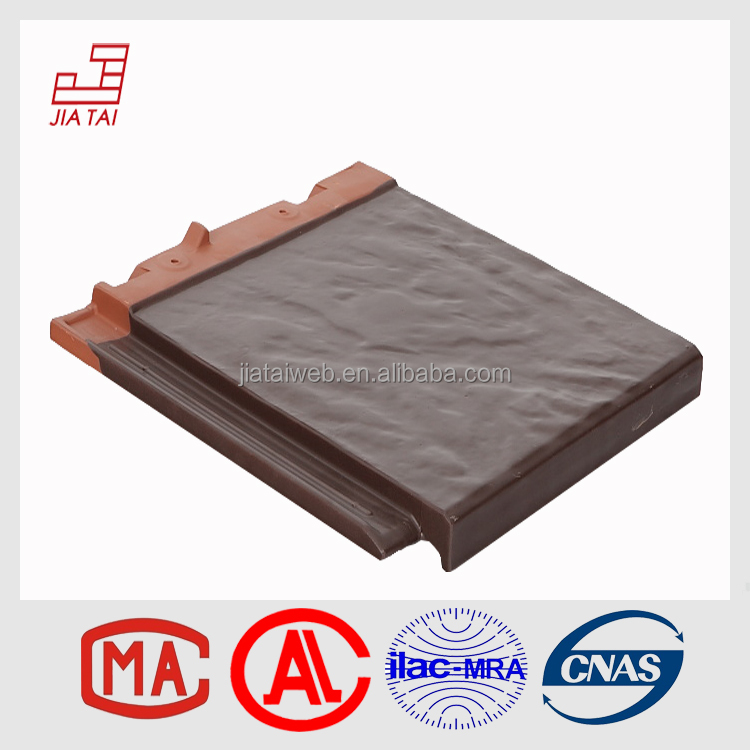 colorful glossy high-ranking club flat clay roof tile