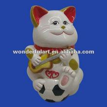antique ceramic japanese lucky cat