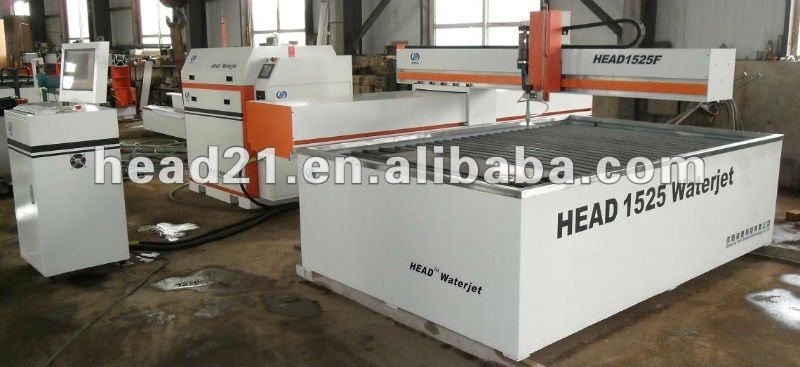 CE certificate CNC water jet stone cutting machine with cantilever style cutting table and 380Mpa intensifier pump