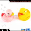 2014 high quality squeaky yellow floating baby rubber duck cheap dog toy