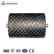 Pulley lagging diamond pattern rubber sheet