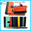 custom genuine leather cheap mobile phone case for LG L90,for LG L90 dual color leather cover