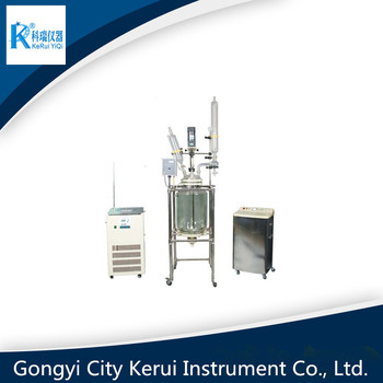 all stainless steel frame chemical mixing laboratory glass reactor