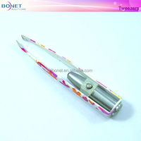 BTZ0163B Flower Coating Led Light Tweezers
